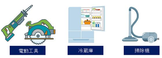 電動工具・冷蔵庫・掃除機