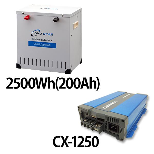 リチウムイオンバッテリー2500Wh(200Ah)+CX-1250