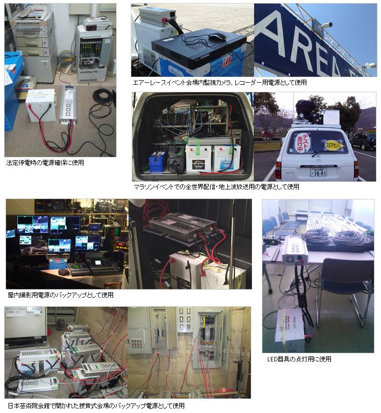 オンリースタイルリチウムイオンバッテリー実際の使用例