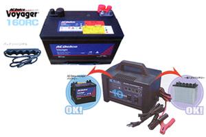 高性能AGMディープサイクルバッテリー 12DD-100(100h) +AC電源急速バッテリー充電器iB-1203セット