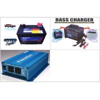POWER TITE 600W正弦波インバーター+充電器+ボイジャーバッテリーセット